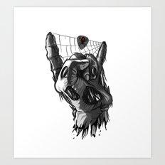 Zombie Horns Art Print