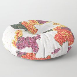 Abstract floral camouflage Floor Pillow
