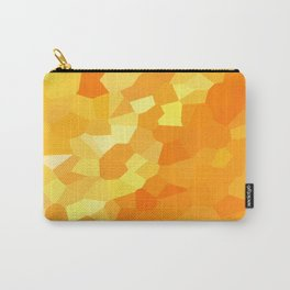 Polygonal Yellow and Orange Stained Glass Mosaic Carry-All Pouch