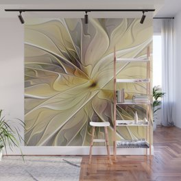 Floral Beauty, Abstract Fractal Art Flower Wall Mural