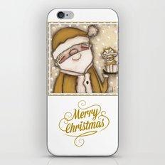 Yellow Santa - by Diane Duda iPhone & iPod Skin