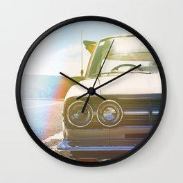 vintage surfer car Wall Clock
