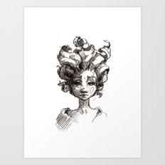 Leaf Girl Art Print