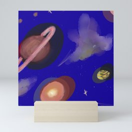 Space Story Mini Art Print