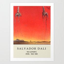 Salvador Dali - The Elephants - Painting Wall Decor Canvas - Vintage Art Print Art Print