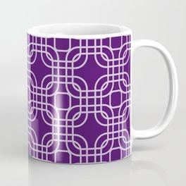 Plum Geometric Lattice Coffee Mug