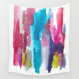 180812 Abstract Watercolour Expressionism 12   Colorful Abstract   Modern Watercolor Art Wall Tapestry