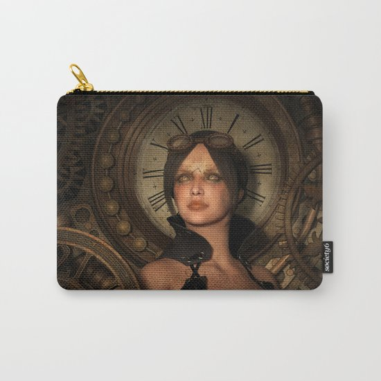 Steampunk Time Keeper Carry-All Pouch