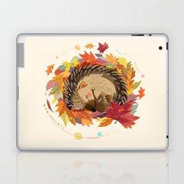 Hedgehog in Autumn Leaves Laptop & iPad Skin