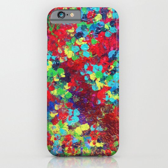 POND IN PIGMENT - Bright Bold Neon Abstract Acylic Floral Aquatic Painting Dots Pattern Trendy Gift  iPhone & iPod Case
