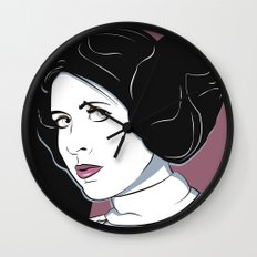 Princess Leia Pop Art Wall Clock