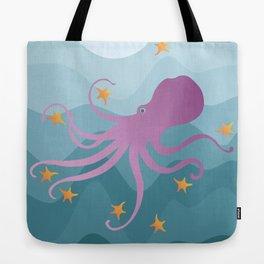Octopus Juggling Starfish Tote Bag