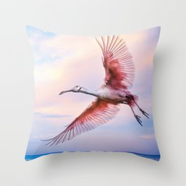Roseate Evening Throw Pillow
