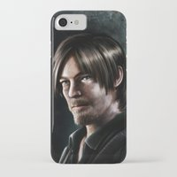 daryl dixon iPhone & iPod Cases featuring Daryl Dixon by Angelo Quintero