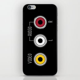 Plug in your mood! (Music + Video) iPhone Skin