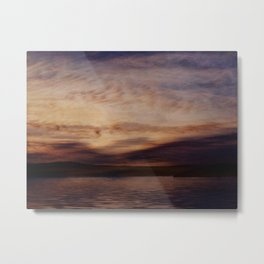 Evening Poem at the Neversink Resrvoir Metal Print