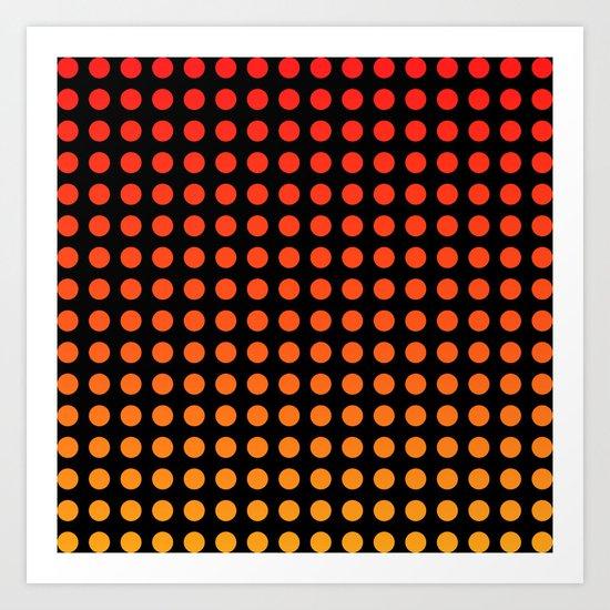 Lil Hottie Red/Orange Art Print