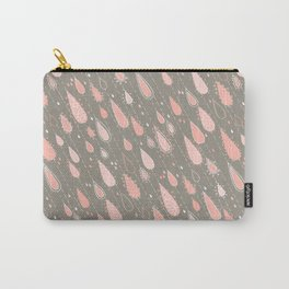 Dusty Rose Rain Drops Carry-All Pouch
