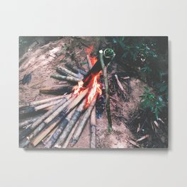 Cooking In The Wild - Borneo style Metal Print