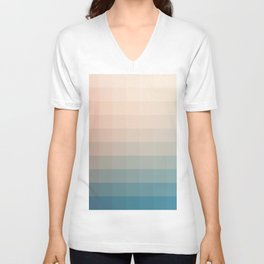 Lumen, Turquoise and Pink Glow Unisex V-Neck