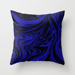 Blue marble pattern #3 Throw Pillow