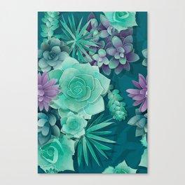 Succulent Love I Canvas Print