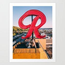 "Rainier ""R"" Art Print"