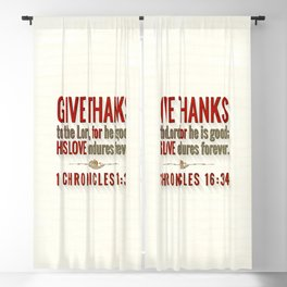 Give Thanks Blackout Curtain