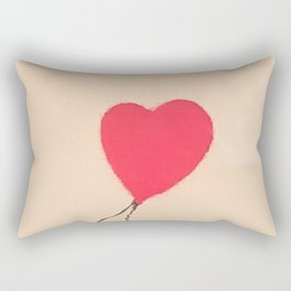 Banksy Heart Balloon Rectangular Pillow