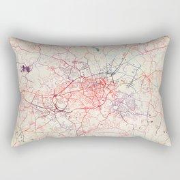 Athens map Georgia painting square Rectangular Pillow