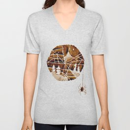 the mountain and the spider Unisex V-Neck