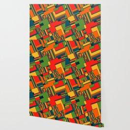 African geometric pattern Wallpaper