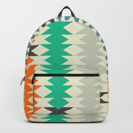 Colorful triangles and diamonds Backpack