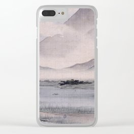Utagawa Hiroshige - Fuji Marsh, Suruga province Clear iPhone Case