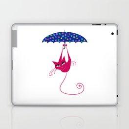 cat umbrella Laptop & iPad Skin
