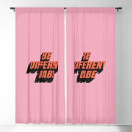Be Different Babe Blackout Curtain