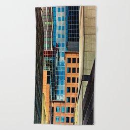 Urban landscape Beach Towel