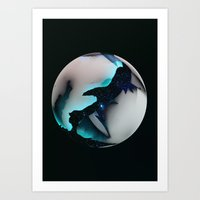 Måne Art Print