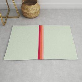 Arimaspi - Classic Colorful Abstract Minimal Retro 70s Style Stripes Design Rug