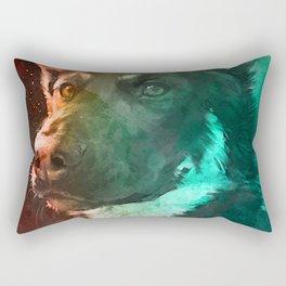 Mentality Dog Strike Rectangular Pillow