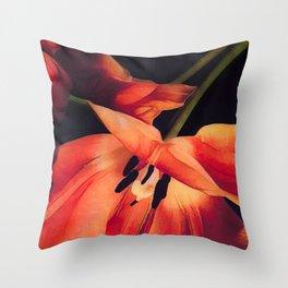 Orange Sentinels Throw Pillow