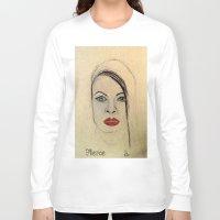 fierce Long Sleeve T-shirts featuring Fierce by Darla Designs