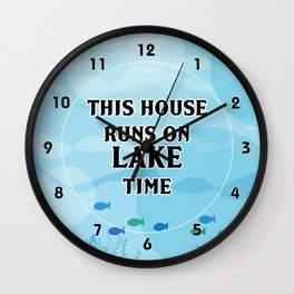Lake Time Wall Clock