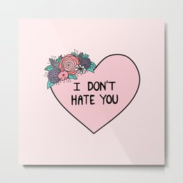 I Don't Hate You Metal Print