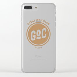Caramel Geek of Color Clear iPhone Case