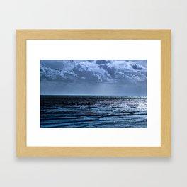 Blue Ocean Ripple Framed Art Print