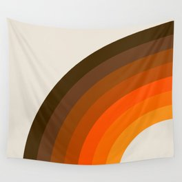 Retro Golden Rainbow - Left Side Wall Tapestry