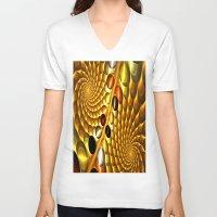 fractal V-neck T-shirts featuring Fractal by Digital-Art
