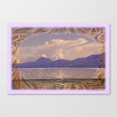 CRESCENT BEACH LIGHT AND LIFE ORCAS ISLAND PACIFIC NORTHWEST Canvas Print