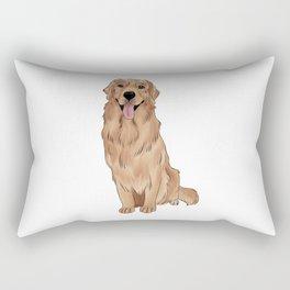 Golden Retriever Rectangular Pillow